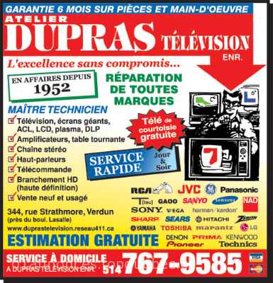 Reparation TV Montreal ACL Plasma DLP